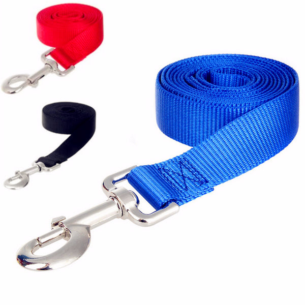 Nylon Dog Leashes long Pet Walking Training Leash Cats Dogs Harness Collar Lead Strap Belt 3 Colors 1.5M 1.8M 3M 4.5M 6M 10M
