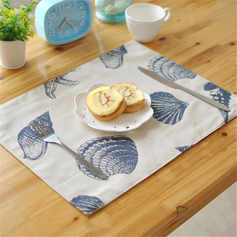 BZ817 Table mats Tableware mats Pads Western Mediterranean quality cloth placemat pad non-slip table mats kitchen