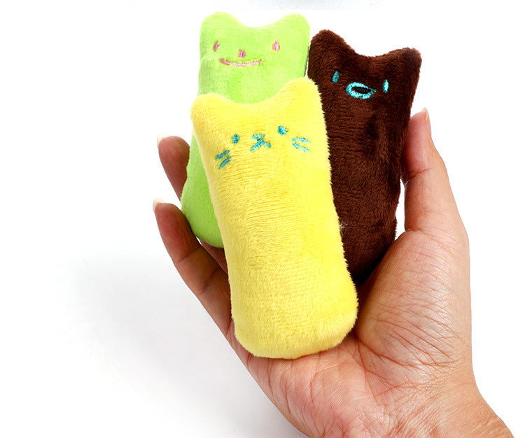 1 Pcs Cartoon Catnip Pillow Interactive Toy Catnip cat Supplies Cat Pillow thumb toy cat plush toy Teeth Grinding Bite Cat mint