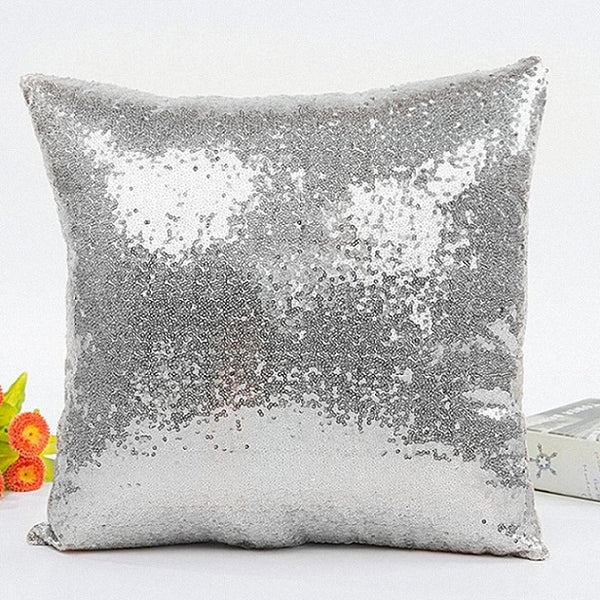 40*40cm Mermaid Glitter Sequins Cushion Cover Throw Pillow Cases Home Car Seat Sofa Cushion Covers Cafe Home Decor Pillowcase
