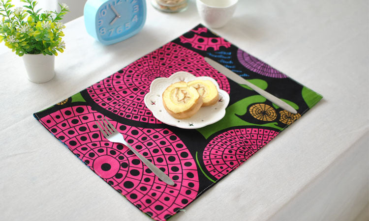 BZ809 Table mats Tableware mats Pads Foreign trade creative thermal insulation printing cloth pad anti ironing table mat napkin