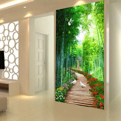DIY 5D Full Diamond Embroidery Tree-lined path Diamond Painting Cross Stitch Kits Diamond Mosaic Home Decoration