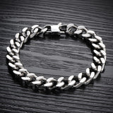 CIFBUY Cool Man Bracelets Fashion 316L Stainless Steel Chunky Link Chain Classical 22.5cm/21.5cm/20.5cm Men Jewelry