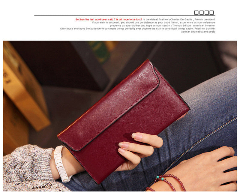 Slim Genuine Leather Women Wallet Female Long Clutch Fashion Women Purse Card Holders Ladies Wallet portefeuille femme portfolio
