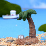 XBJ183 Mini Simulation of coconut trees decoration supplies moss micro landscape deco  Garden deco Creative handicrafts