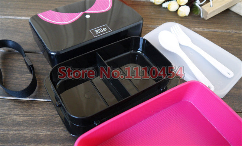 CJ006 Bento Boxes Japanese Style Lunchbox French romantic and lovely Microwave Dinnerware Sets Food Container Large Meal Box