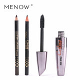 M.n Menow Brand Thick Mascara Set With Gift Two Pencil Black / Brown Combination Natural Curly Lasting Mascara M12002