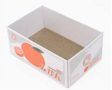 Fashion Corrugated dog cat bed scratch Board box claw toy cat carton box for dog cat sleeping mat Pet Kitten sofa pet bed