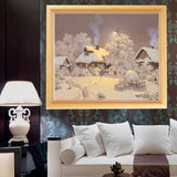 DIY 5D Diamond Embroidery Rural Small House Round Diamond Painting Cross Stitch Kits Diamond Mosaic Home Decoration