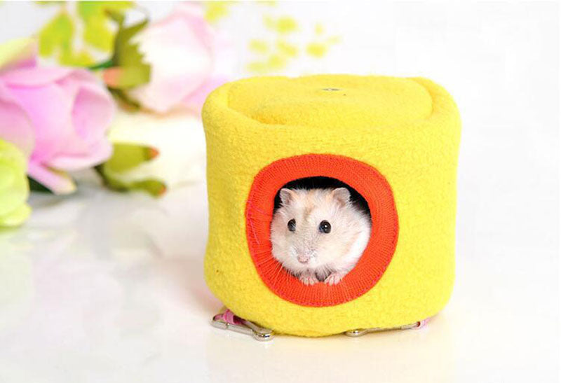 Winter Warm Small Animal Pet House Hammock Rabbit Hamster Rat Hanging Bed House Cute Mini Pet Cage Toys Mouse Toys