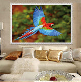 DIY Full 5D Diamond Embroidery The parrot Round Diamond Painting Cross Stitch Kits Diamond Mosaic home  Decoration