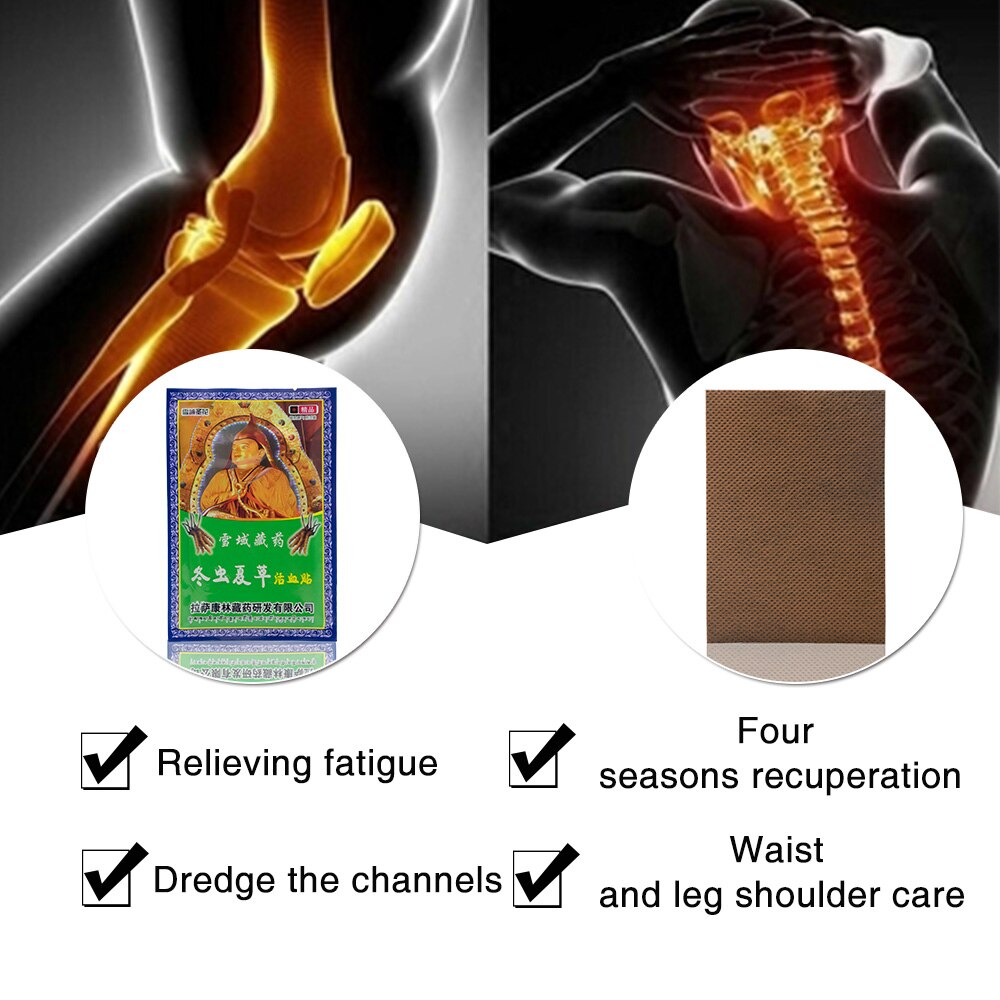 8Pcs/Bag Strain & Sprain Neck Back Muscle Shoulder Knee Pain Plaster Joint Pain Pacth Health Care Body Massage