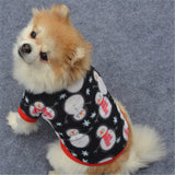 Winter warm pet dog jackets for chiristmas classic pattern dog hoodies warm sweater pet coat for small dogs puppy outfit