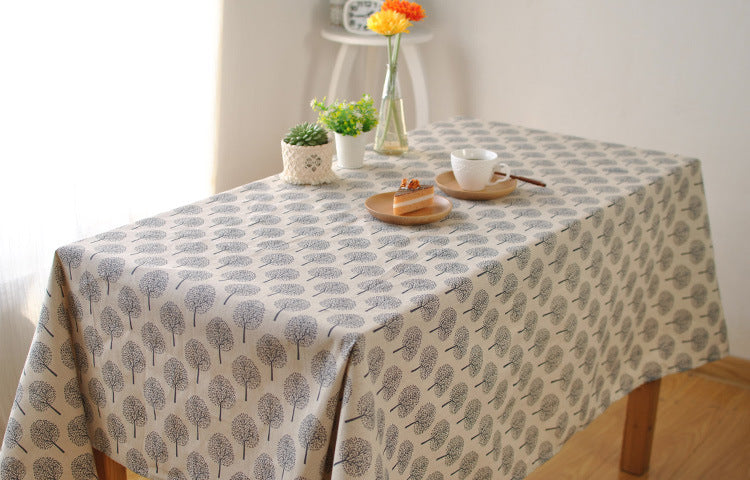 BZ311 Japanese minimalist theatrical cotton cloth tablecloths coffee table computer desk table cloth cover cloth