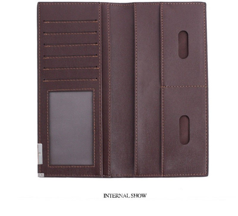 Soft leather business casual wallet High quality PU leather  clutch Card & ID Holders Long ultra-thin money