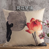 BZ112 Luxury Cushion Cover Pillow Case Home Textiles supplies Lotus neck Pillow decorative throw pillows chair seat