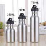 Portable sport drinking water bottle stainless steel drink bottles Kettle for Outdoor Travel Riding Outdoor Tools 350/500/750Ml