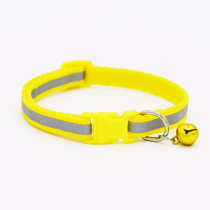 Nylon Reflective Pet dog Collar for Small Dogs Cat Puppy Necklace with Bell For Chihuahua Necklace Pet Products For Animals