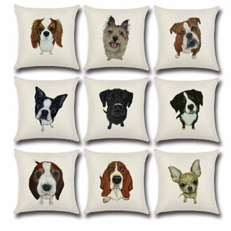 BZ501 Sketch dog series pattern Pillow Cushion Cover Pillowcase Sofa/Car Cushion /Pillow  Home Textiles supplies