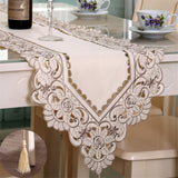BZ368 Europe Table Runner Ployester Lace Wedding Decoration Embroidered Floral Table Cover Dustproof Runners Home Textile