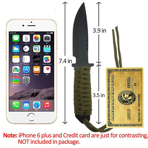 7.5 Inch Utility Combat Tactical Knife Camping Survival knife hunting knife with Nylon Sheath Fixed Blade