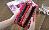 Genuine Leather Wallet for Women Lady Long Wallets Women Purse 6 Colors Wallet female Card Holder women clutch DC10