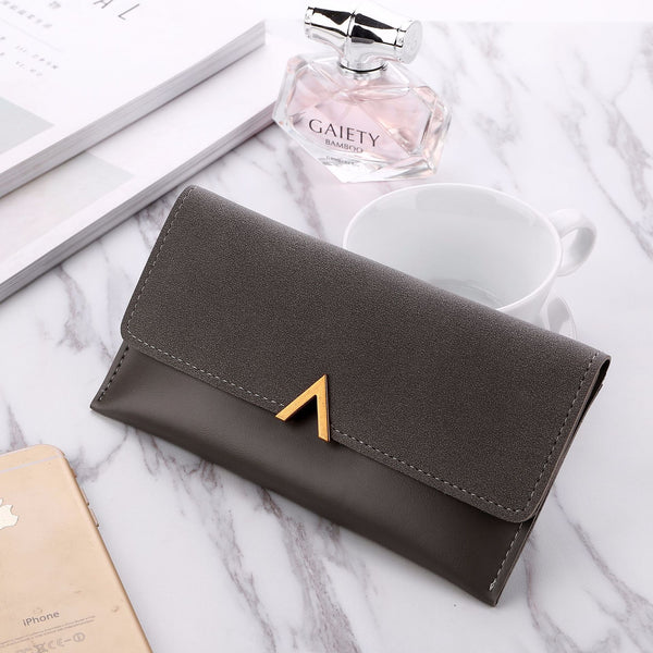2018 New Female Wallet Leather Women Wallet Change Deer Long Design Hasp Purses Clutch Money Coin Card Holders Wallet Carteras