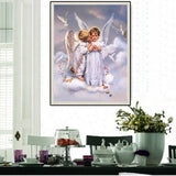 DIY 5D Diamond Embroidery The Beautiful Angel Round Diamond Painting Cross Stitch Kits Diamond Mosaic Home Decoration