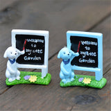 XBJ142 Mini Puppy blackboard decoration supplies moss micro landscape deco  Garden deco Creative handicrafts