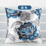 BZ020 Luxury Cushion Cover Pillow Case Home Textiles supplies Lumbar Pillow Big peony decorative throw pillows chair seat