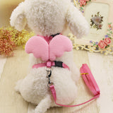 Cute Angel Pet Dog Leashes and Collars Set Puppy Leads for Small Dogs Cats Designer Wing Adjustable Dog Harness Pet Accessories