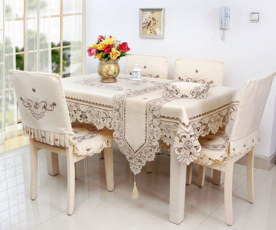 BZ318 Europe Polyester Tablecloth Embroidered Tablecloth Square Floral Home Hotel Wedding Table Cover Decorative toalha de mesa