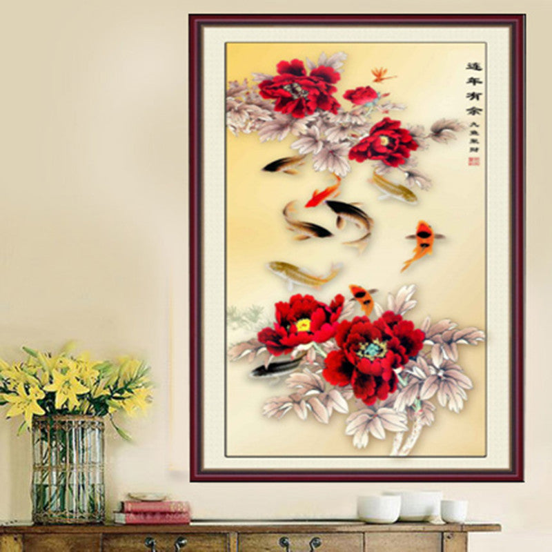 DIY 5D Diamond Embroidery Year After Year Have Fishes Round Diamond Painting Cross Stitch Kits Diamond Mosaic Home Decor
