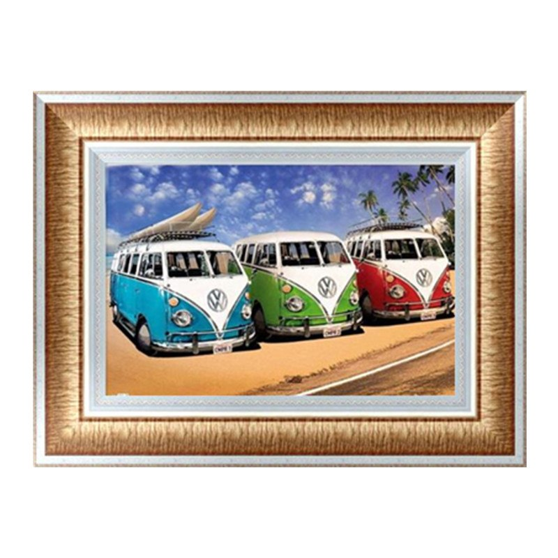 DIY 5D Partial Diamond Embroidery bus Diamond Painting Cross Stitch Kits Diamond Mosaic Home Decoration