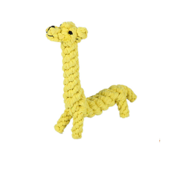 Dog Chew Toy Pet Dog Toy Rope Giraffe Interactive Training Dog Teeth Clean And Durable Bite Ball Toys Small Dogs