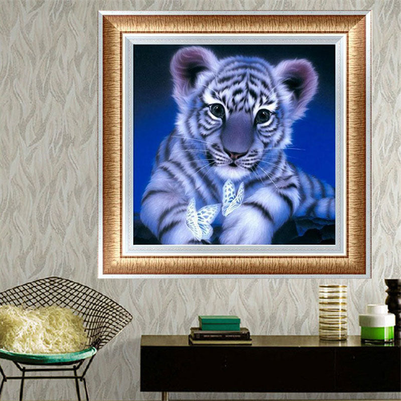 DIY 5D Partial Diamond Embroidery Little tiger Diamond Painting Cross Stitch Kits Diamond Mosaic Home Decoration