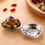 1 Pc Stainless Steel Practical Heart Shape Tea Infuser Spoon Strainer Steeper Handle Shower Table Tool