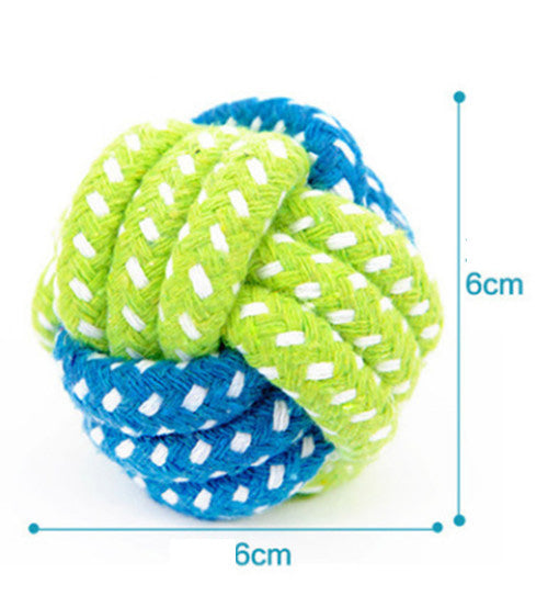 Dog Toy Dog Chews Cotton Rope Knot Ball Grinding Teeth odontoprisis Pet Toys Large small Dogs 7 Style options