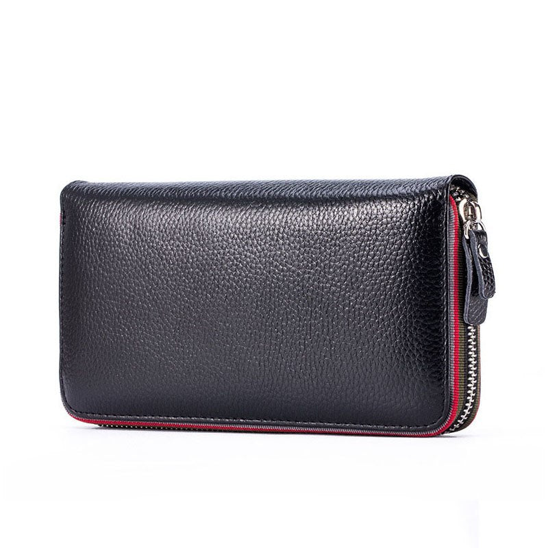 New design fashion women wallet rear genuine leather wallet cow leather purse female casual clutch money clips colors