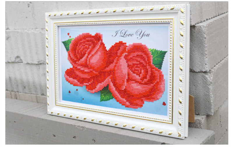 DIY 5D Diamonds Embroidery Purple Red Blue Rose Magic Cube Round Diamond Painting Cross Stitch Kits Diamond Mosaic