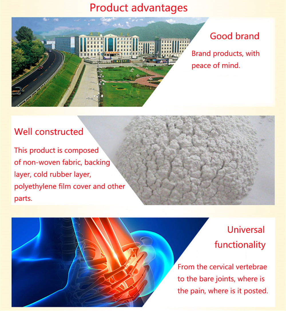 8Pcs/Bag Chinese Medical Pain Relief Patch Dogskin Plaster Fever Analgesic Plaster Tiger Balm Ointment