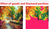 DIY 5D Diamond Embroidery Beautiful The woods basket Round Diamond Painting Cross Stitch Kits Mosaic Painting Home Decor
