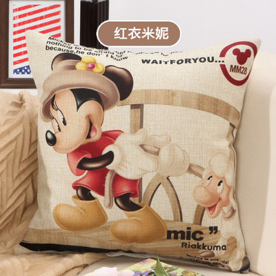 BZ205 Cartoon printing pillow Cushion Pillow Cover Pillowcase Sofa/Car Cushion /Pillow  Home Textiles supplies