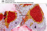 DIY DIY diamond Embroidery beautiful rose 5D diamond painting of Cross stitch kit living room Needlework set embroidery
