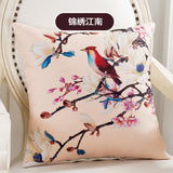 BZ126 Luxury Cushion Cover Pillow Case Home Textiles supplies American Country Flowers Birds decorative throw pillows chair seat