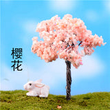 XBJ033 Ornament DIY Sand Table Model 1Pcs Micro landscape Decorative Plastic Flowers Simulation Trees Home Decoration