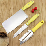 3 pcs in one set high quality stainless steel kitchen knife set,meat knife,fruit knife,multi peeler knife