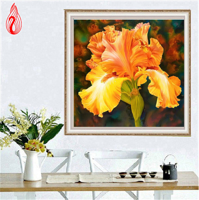 DIY 5D Diamond Embroidery The Beautiful Flowers Round Diamond Painting Cross Stitch Kits Diamond Mosaic Home Decoration