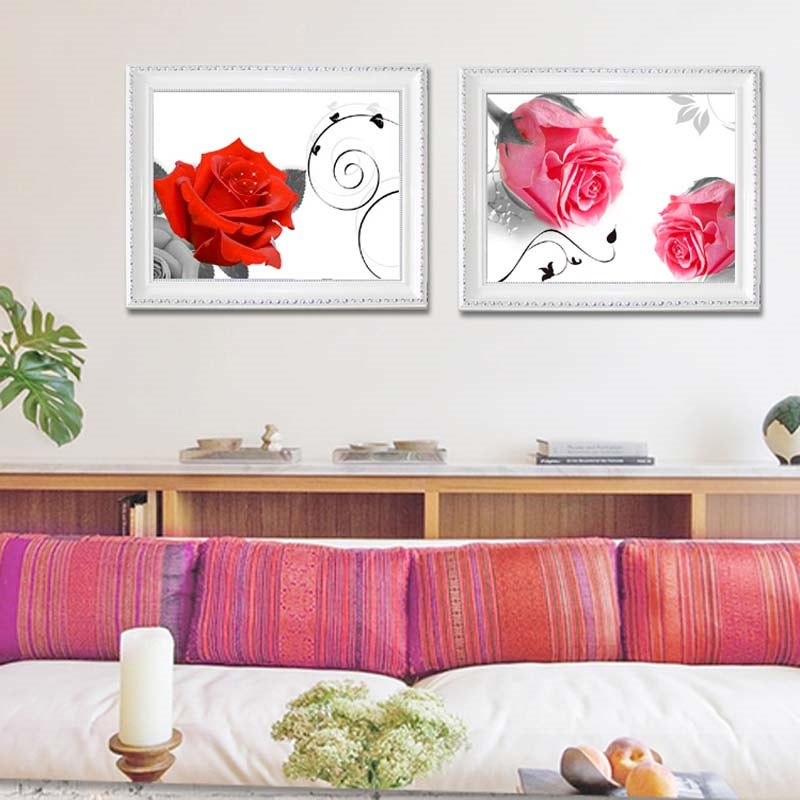 DIY 5D Diamonds Embroidery 3 different rose pictures Round Diamond Painting Cross Stitch Kits Diamond Mosaic Home Decor
