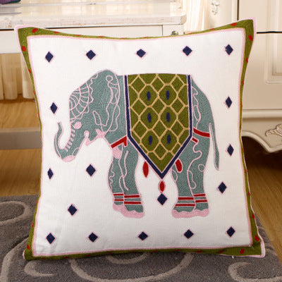 BZ133 Luxury Cushion Cover Pillow Case Home Textiles supplies Lumbar Pillow Elephant embroidery pillows chair seat